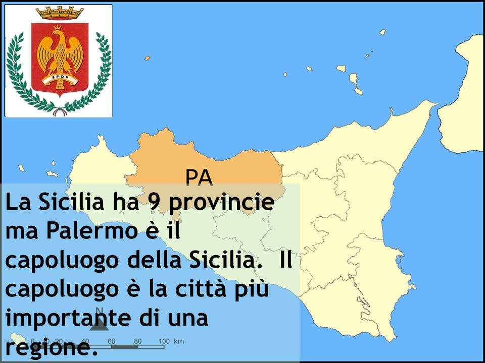 La Sicilia ha 9 provincie ma Palermo è il capoluogo della Sicilia. Il capoluogo è la città più importante di una regione.