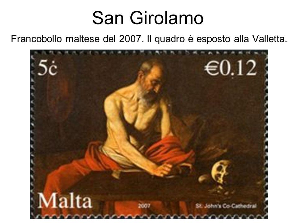 San Girolamo Francobollo maltese del 2007. Il quadro è esposto alla Valletta.