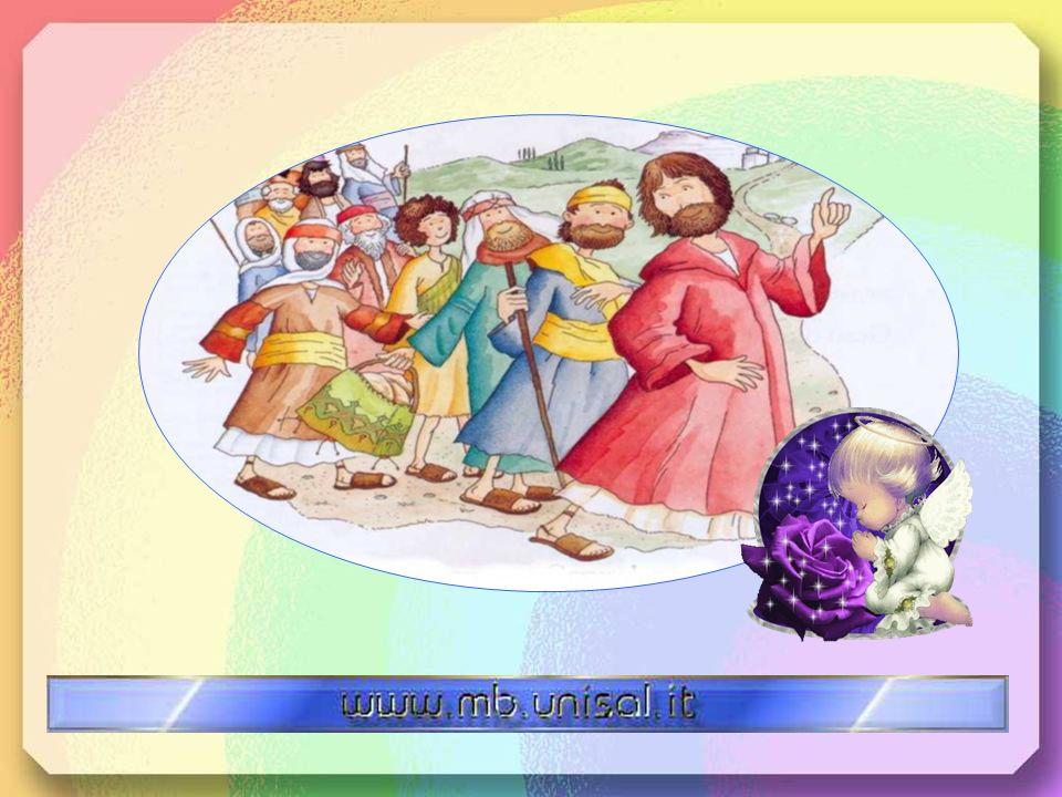 Quaranta giorni dopo Gesù condusse i suoi discepoli verso Betania. Là salì verso il cielo. Mentre i suoi discepoli lo guardavano, vennero due angeli c