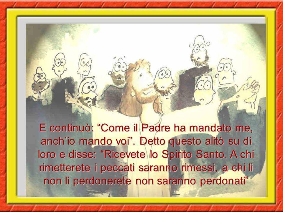 Gli apostoli stavano chiusi in casa per paura dei Giudei. Gesù venne, stette in mezzo a loro e disse: La pace sia con voi!