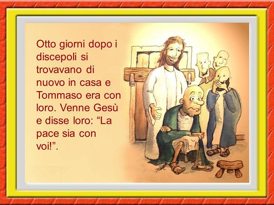 Ma Tommaso, detto Didimo, non era con loro quando venne Gesù. Gli dissero gli altri discepoli: Abbiamo visto il Signore! Ma egli rispose: Se non vedo