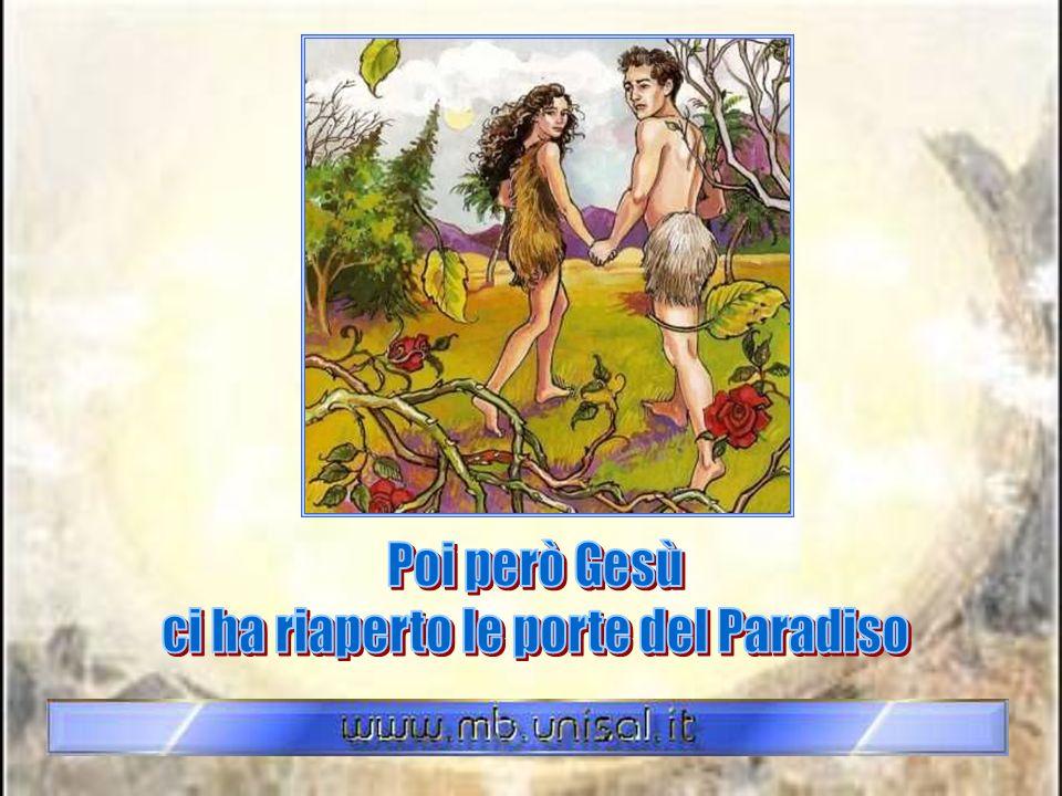 Nel giardino dellEden Dio permise loro di mangiare tutti i frutti, tranne uno: la mela. Provocata da un serpente malvagio, Eva la mangiò. Subito dopo