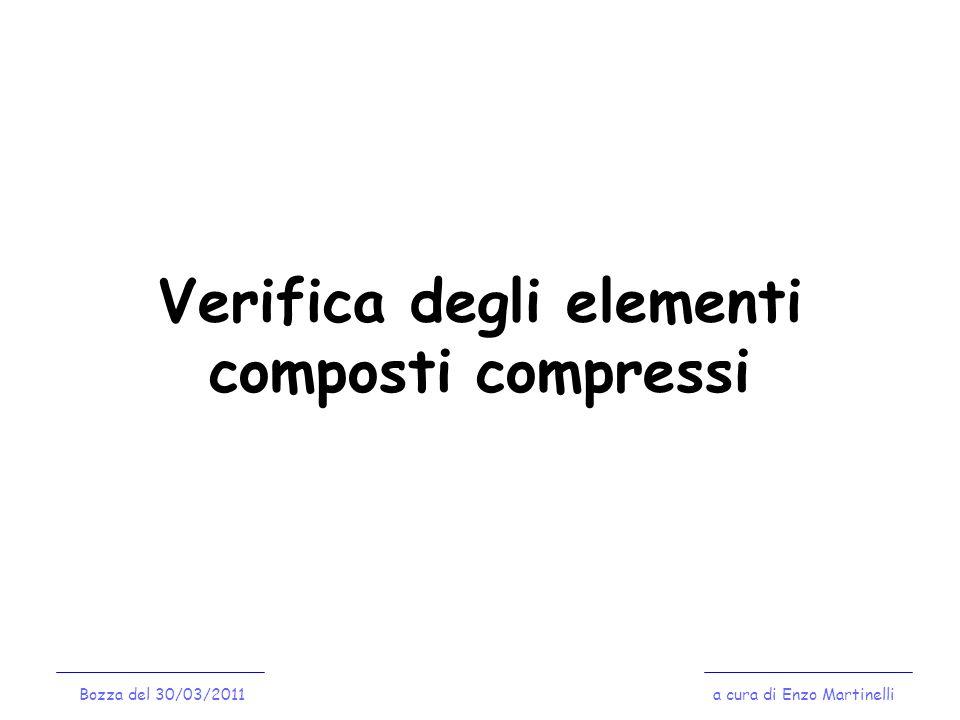 Verifica degli elementi composti compressi Bozza del 30/03/2011a cura di Enzo Martinelli
