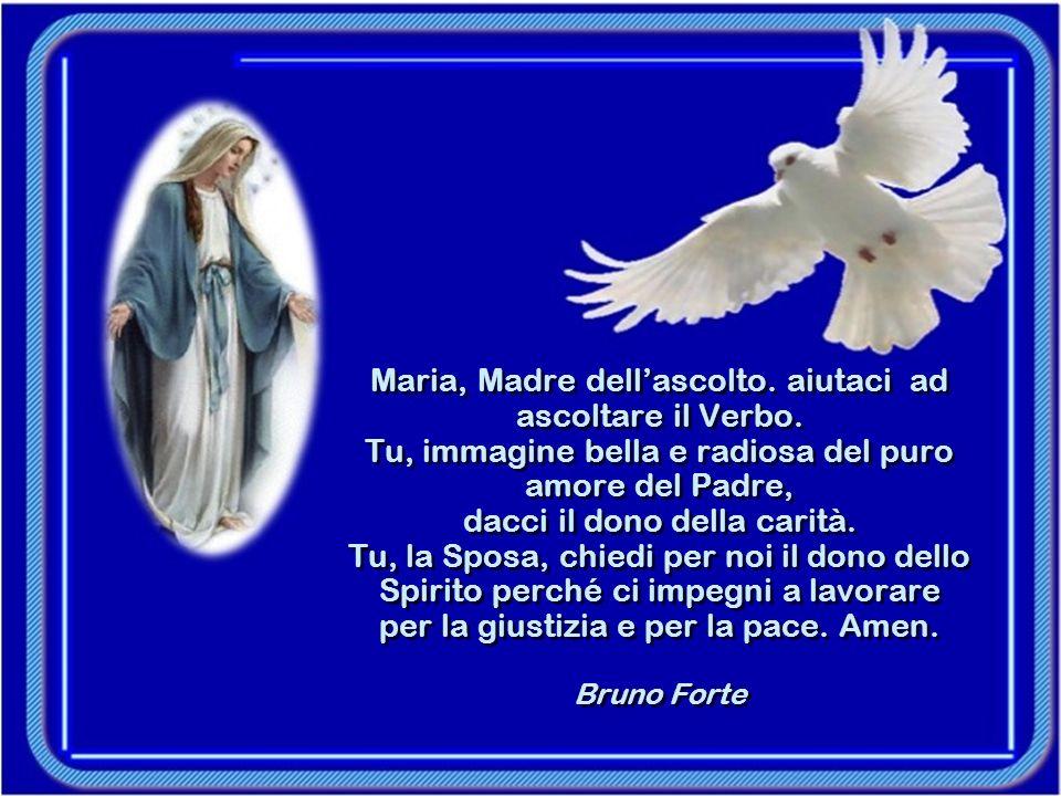 E poiché, Maria, hai ricevuto un dono così grande, come potrei chiamarti se non Signora e Gioia del mondo.