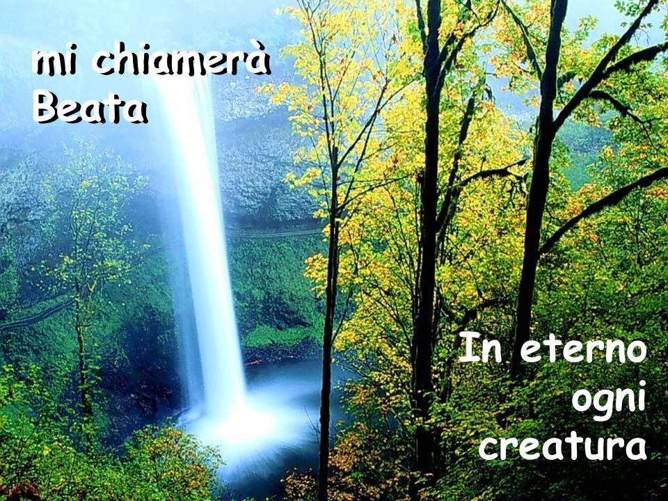 La mia anima canta La mia anima canta la grandezza del Signore nel mio Salvatore il mio Spirito esulta