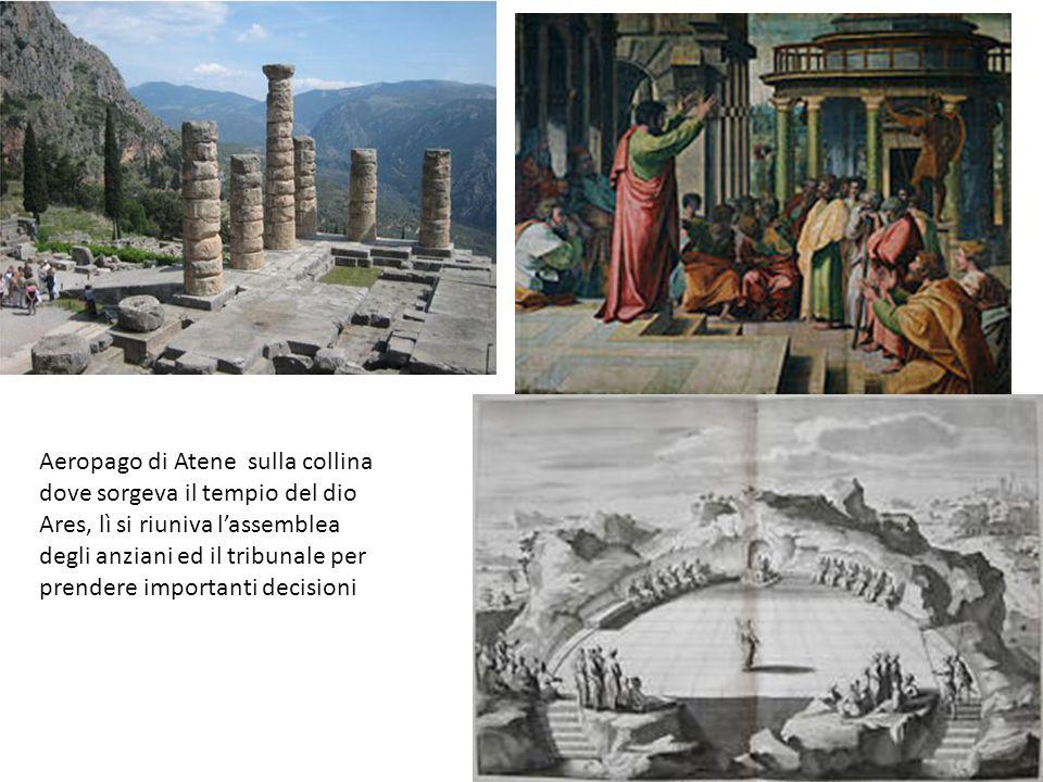 Aeropago di Atene sulla collina dove sorgeva il tempio del dio Ares, lì si riuniva lassemblea degli anziani ed il tribunale per prendere importanti decisioni
