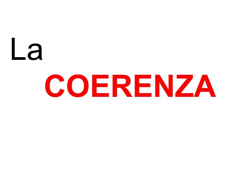 La COERENZA