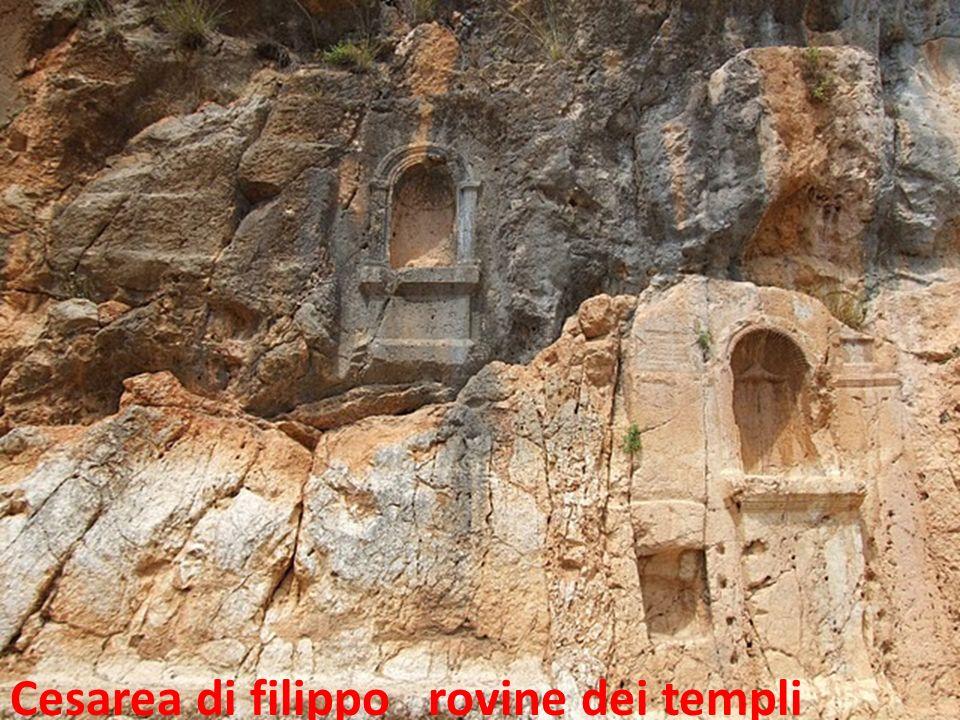 Cesarea di filippo rovine dei templi