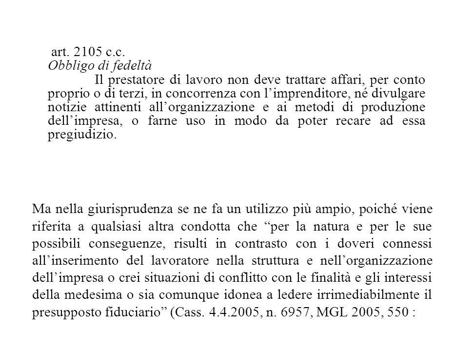 art.2105 c.c.