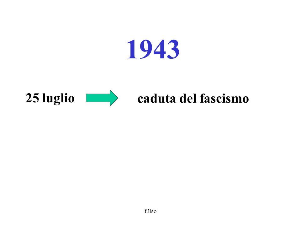 f.liso giugno congresso Cgil Firenze: principio della rappresentanza proporzionale e non più paritetica; (comitato direttivo: 38 comunisti, 19 socialisti, 11 cattolici, 2 repubblicani, 2 socialdemocratici, 3 gruppi minori possibilità dello sciopero politico (la componente democristiana si astiene) 1947