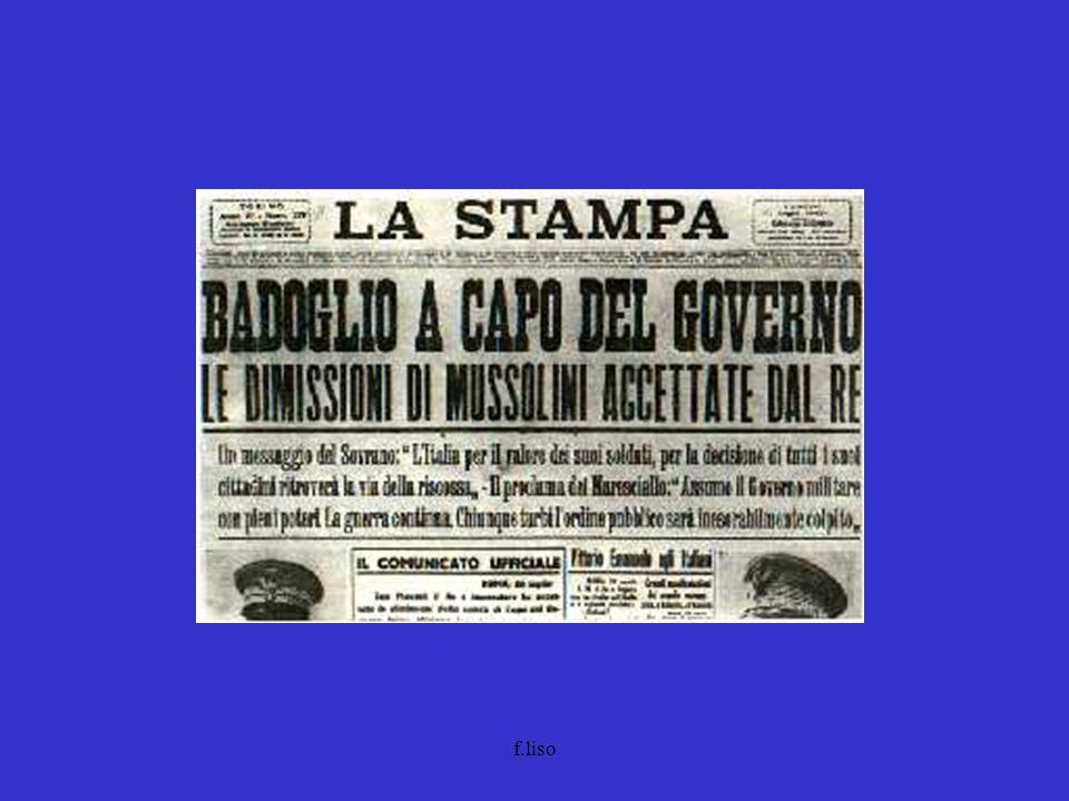 f.liso 1948 gennaio Entra in vigore la Carta costituzionale aprile votazioni politiche (18.4.) DC48,5% (35,2%) PSI + PCI31% (20,72%+18,96%= 39,6%) PSLI7,1% Inizia lera dellegemonia democristiana