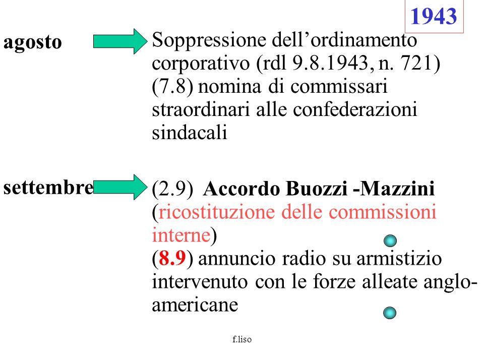 f.liso (10.9) le truppe tedesche occupano Roma (12.9) Mussolini liberato dai tedeschi.