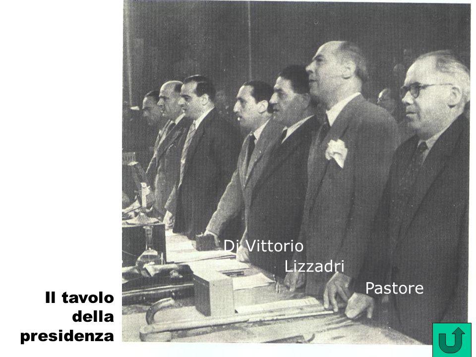 Pastore Di Vittorio Il tavolo della presidenza Lizzadri