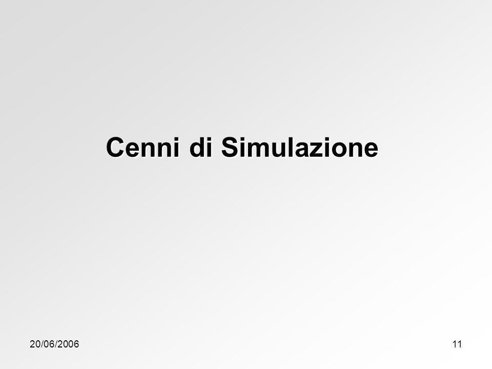 20/06/200611 Cenni di Simulazione