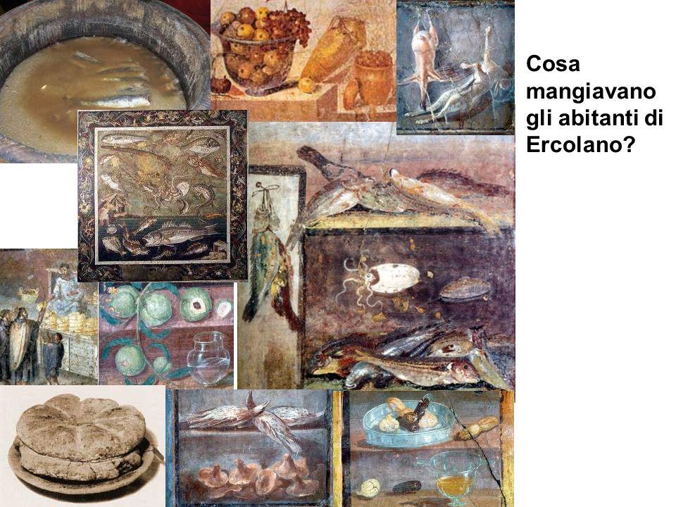 Cosa mangiavano gli abitanti di Ercolano?