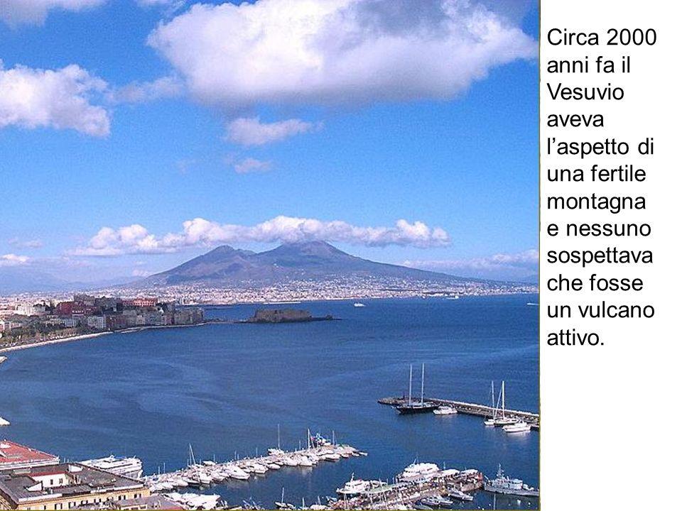 Circa 2000 anni fa il Vesuvio aveva laspetto di una fertile montagna e nessuno sospettava che fosse un vulcano attivo.