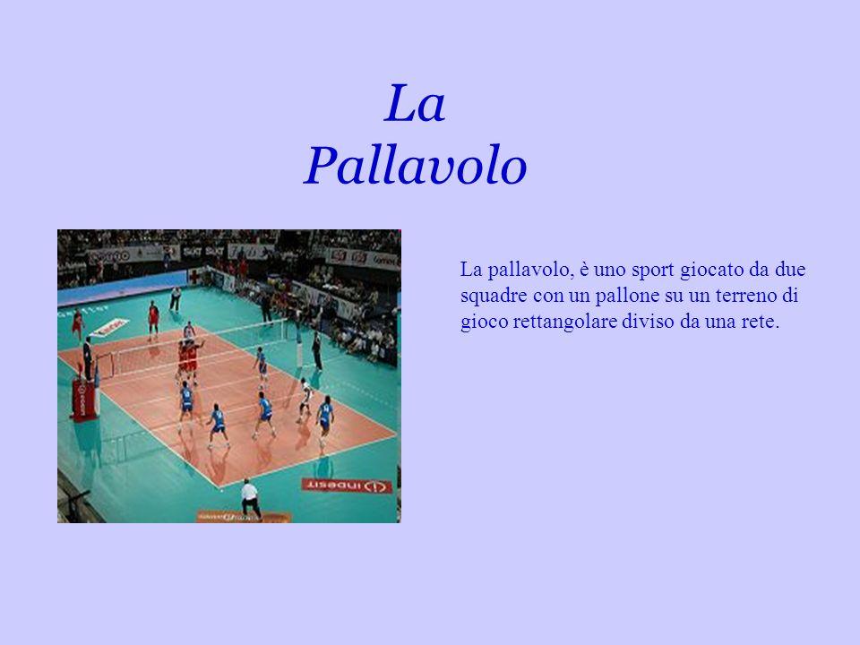 La Pallavolo La pallavolo, è uno sport giocato da due squadre con un pallone su un terreno di gioco rettangolare diviso da una rete.