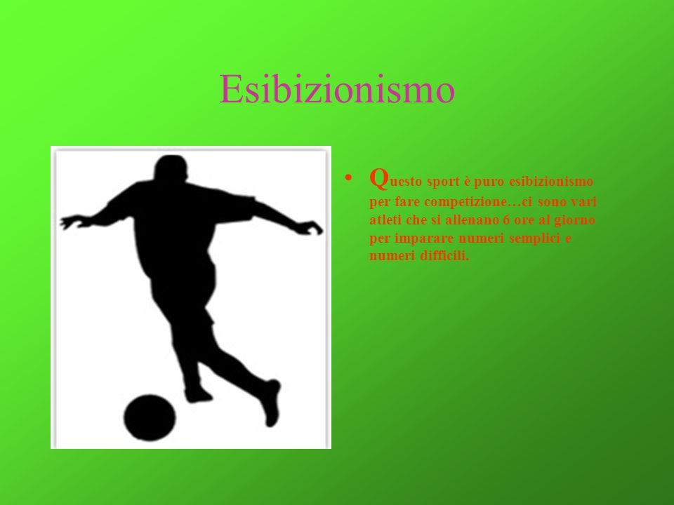 Esibizionismo Q uesto sport è puro esibizionismo per fare competizione…ci sono vari atleti che si allenano 6 ore al giorno per imparare numeri semplic