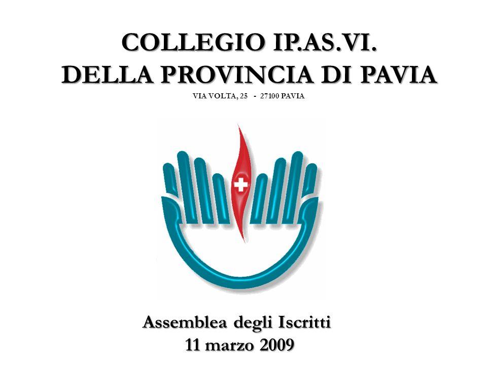 RENDICONTO GENERALE anno 2008 BILANCIO di PREVISIONE anno 2009 11/03/2009COLLEGIO IP.AS.VI. PAVIA2
