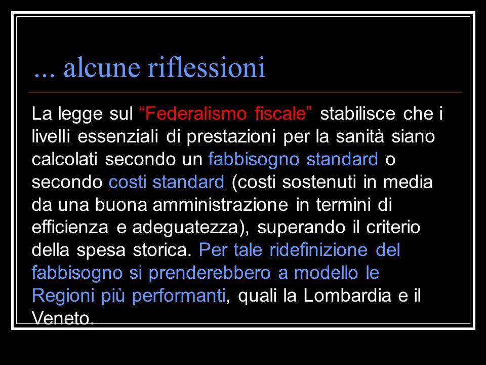 Rapporto Osservasalute (Università Cattolica di Roma) … regioni come la Lombardia soddisfano il diritto allassistenza sanitaria dei cittadini con meno
