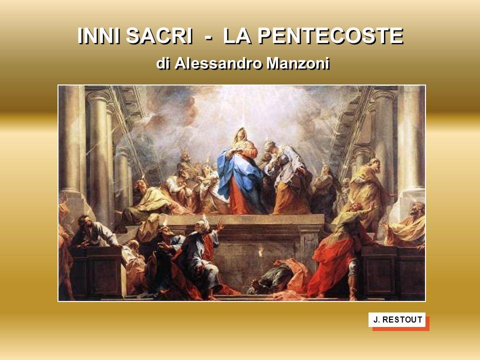 INNI SACRI - LA PENTECOSTE di Alessandro Manzoni J. RESTOUT