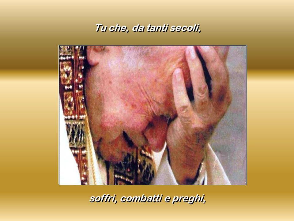 Tu che, da tanti secoli, soffri, combatti e preghi,