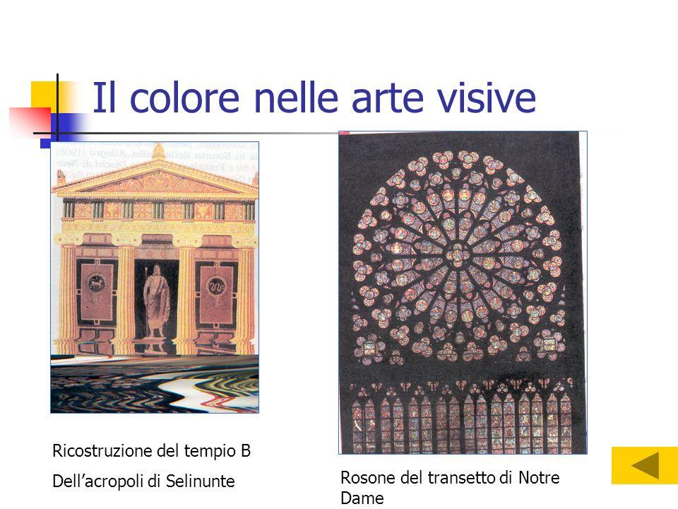 Il colore nelle arte visive Ricostruzione del tempio B Dellacropoli di Selinunte Rosone del transetto di Notre Dame