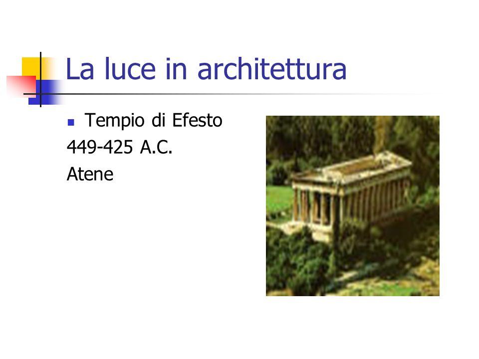 La luce in architettura Tempio di Efesto 449-425 A.C. Atene