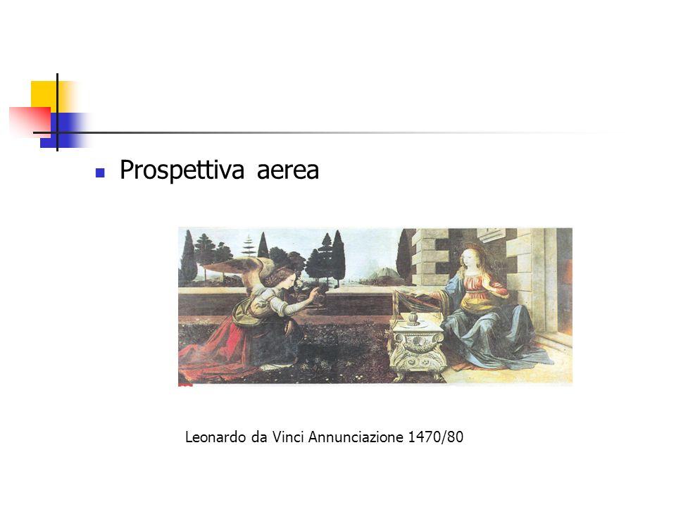 Prospettiva aerea Leonardo da Vinci Annunciazione 1470/80