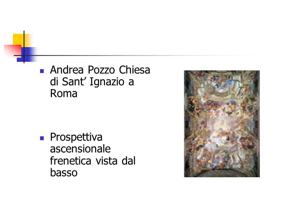 Andrea Pozzo Chiesa di Sant Ignazio a Roma Prospettiva ascensionale frenetica vista dal basso