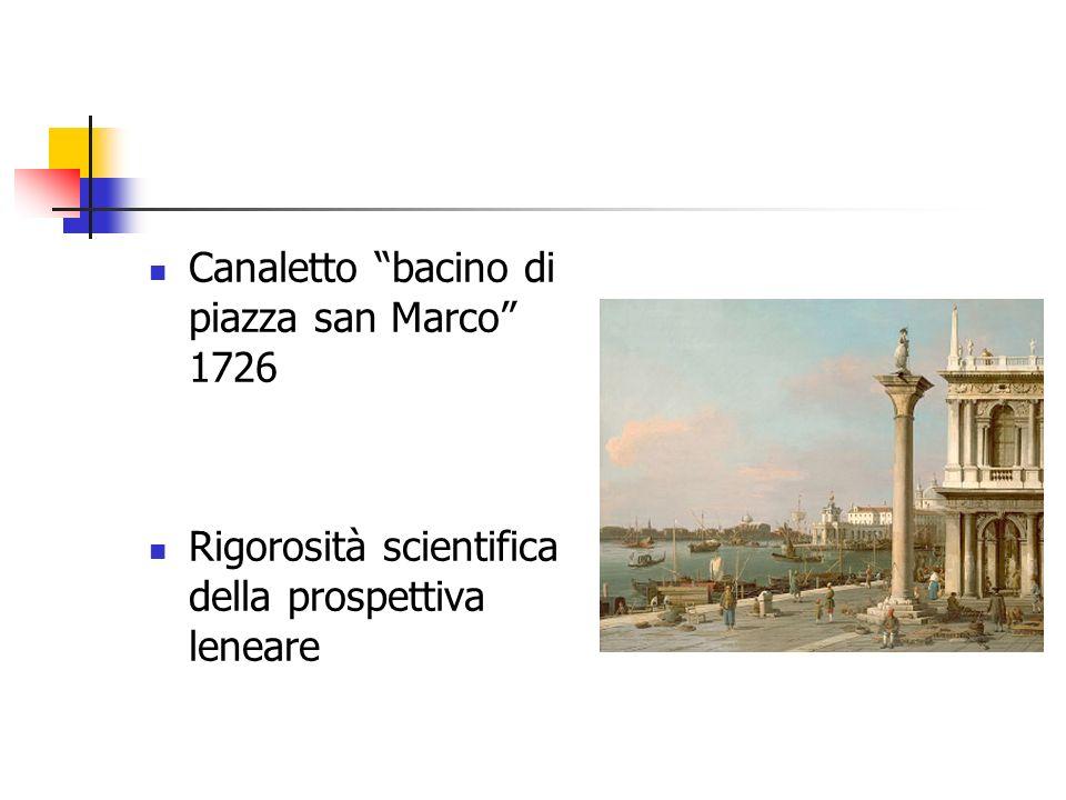 Canaletto bacino di piazza san Marco 1726 Rigorosità scientifica della prospettiva leneare