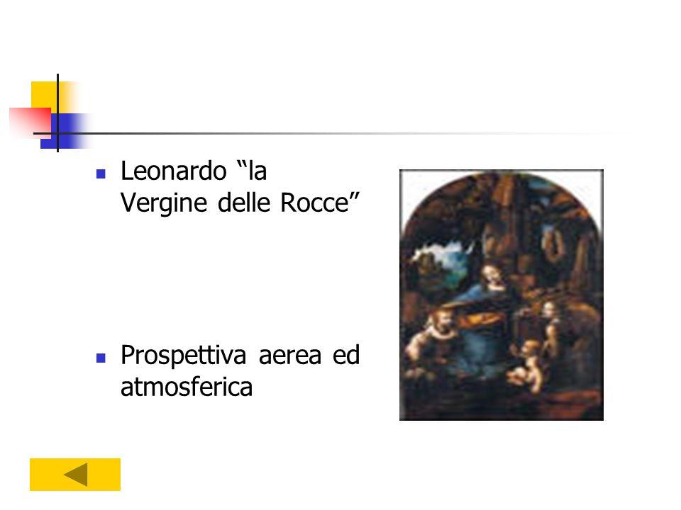 Leonardo la Vergine delle Rocce Prospettiva aerea ed atmosferica
