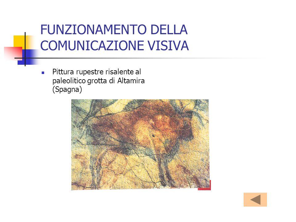 FUNZIONAMENTO DELLA COMUNICAZIONE VISIVA Pittura rupestre risalente al paleolitico grotta di Altamira (Spagna)