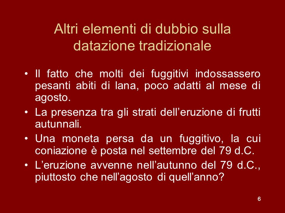 Gli elementi di interesse in Plinio il Giovane VI, 20, 18 Leruzione del Vesuvio del 79 d.C.