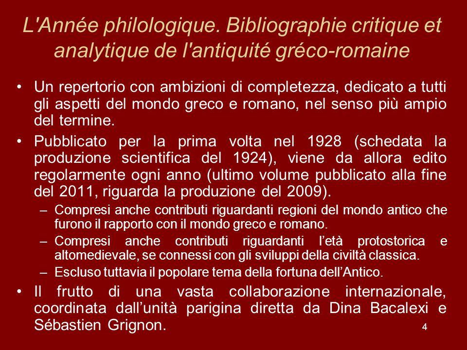 4 L Année philologique.