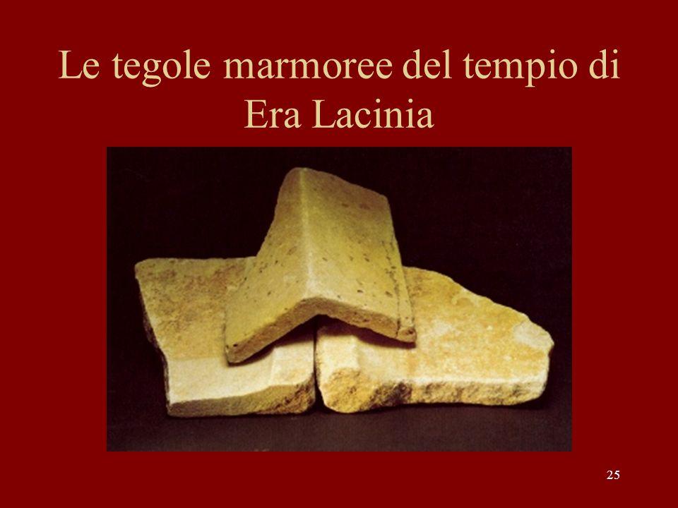 Le tegole marmoree del tempio di Era Lacinia 25