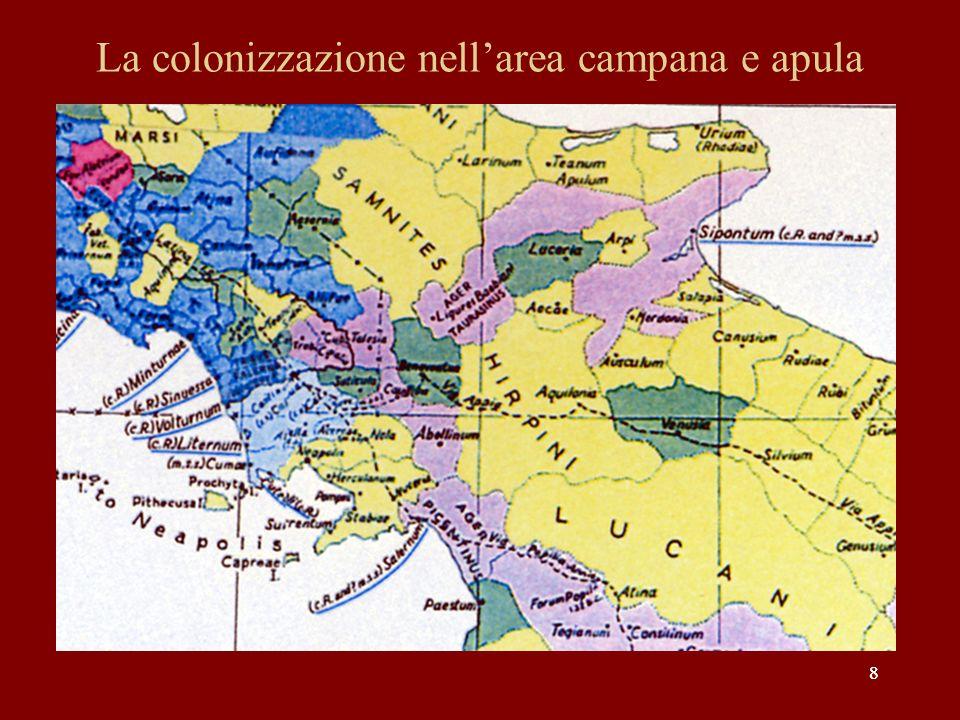 29 Lo sviluppo della via Capua-Reggio in Lucania e nel Bruzio