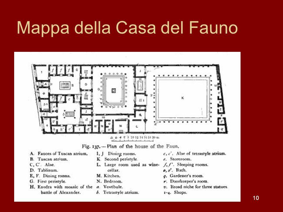 Mappa della Casa del Fauno 10