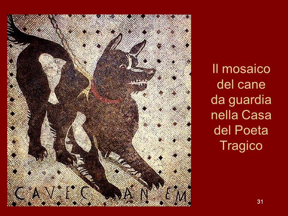 31 Il mosaico del cane da guardia nella Casa del Poeta Tragico