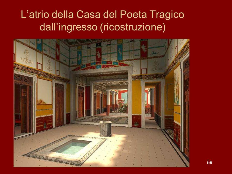 59 Latrio della Casa del Poeta Tragico dallingresso (ricostruzione)