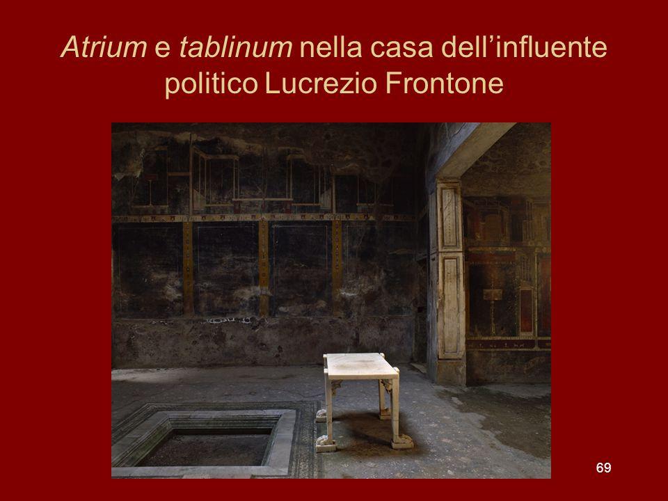 Atrium e tablinum nella casa dellinfluente politico Lucrezio Frontone 69