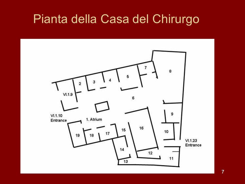 58 Latrio tuscanico della Casa della Poeta Tragico visto dal tablinum
