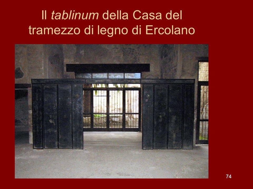 Il tablinum della Casa del tramezzo di legno di Ercolano 74