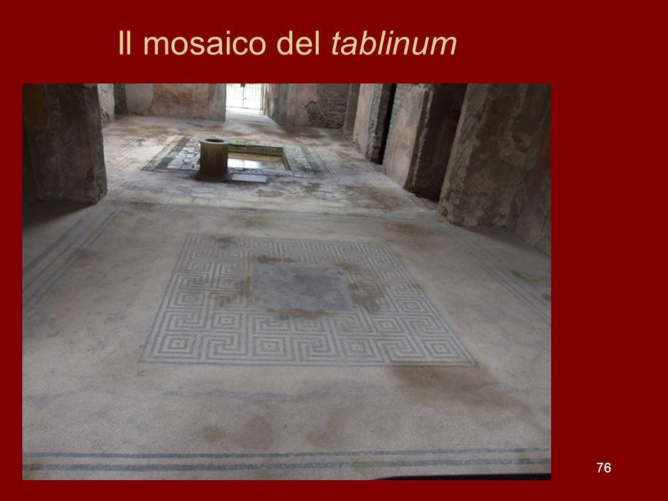 76 Il mosaico del tablinum