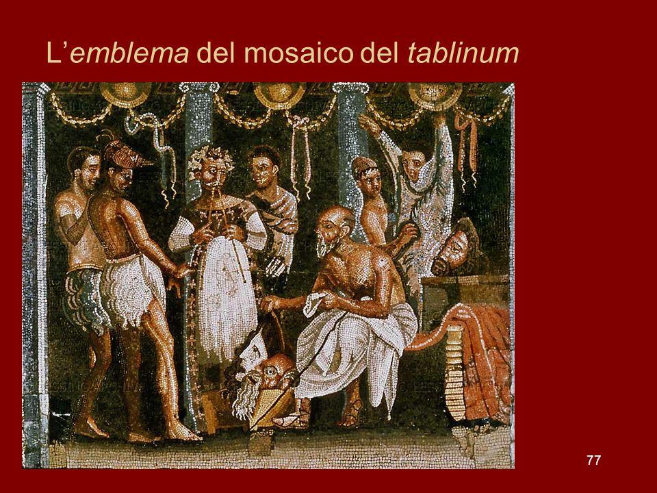 77 Lemblema del mosaico del tablinum