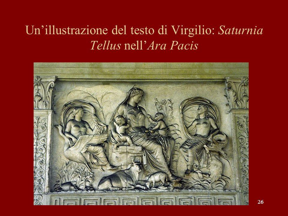 26 Unillustrazione del testo di Virgilio: Saturnia Tellus nellAra Pacis