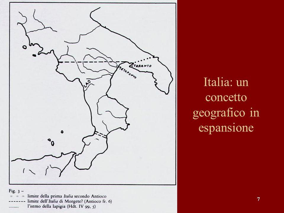 88 Il concetto dItalia agli inizi del I sec.