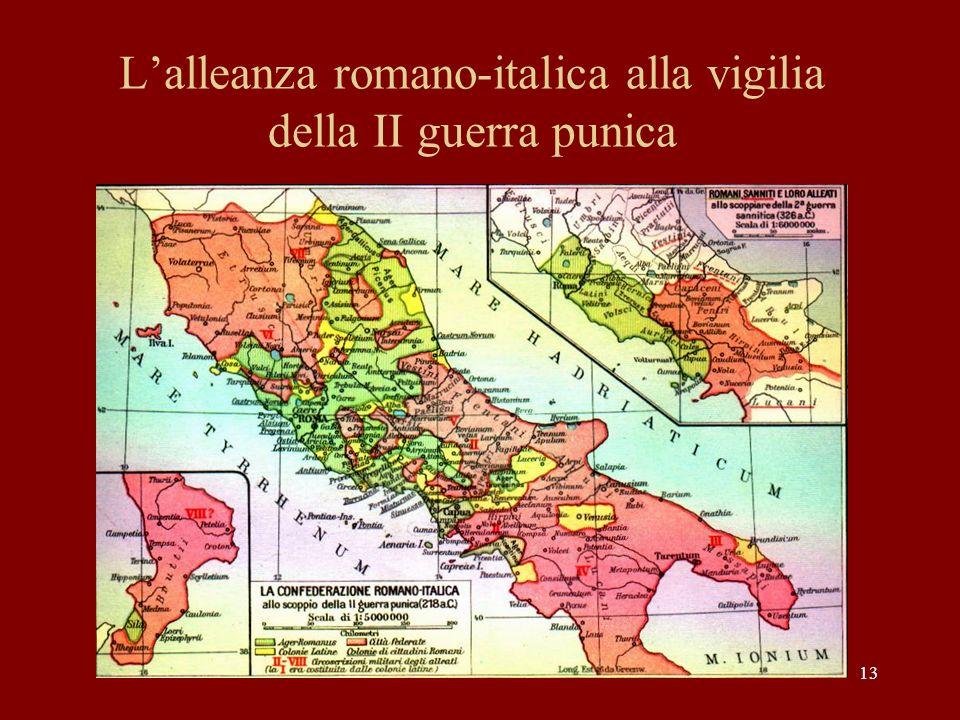 13 Lalleanza romano-italica alla vigilia della II guerra punica