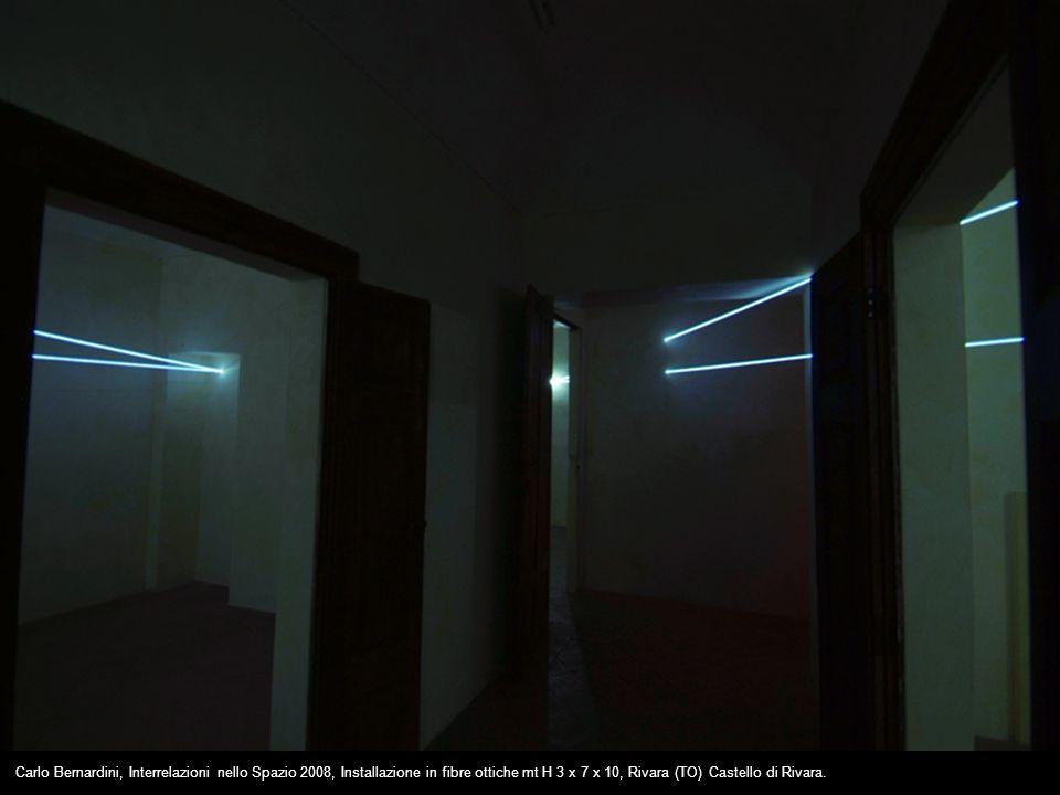 Carlo Bernardini, Interrelazioni nello Spazio 2008, Installazione in fibre ottiche mt H 3 x 7 x 10, Rivara (TO) Castello di Rivara.