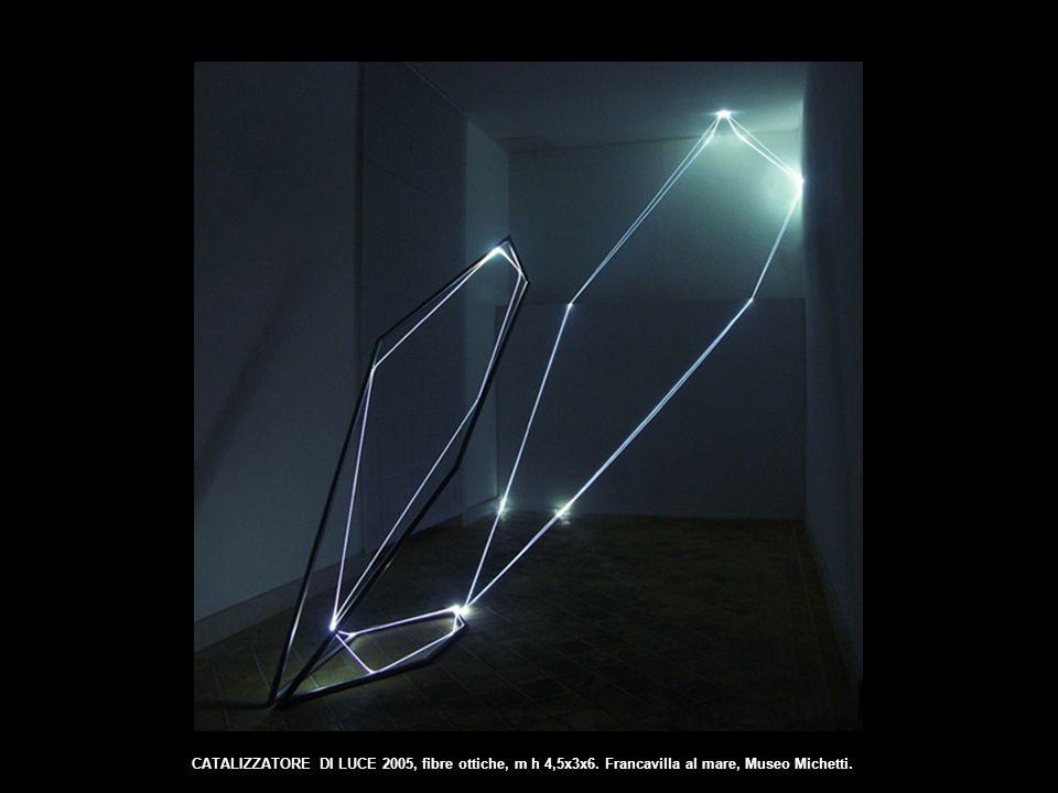 CATALIZZATORE DI LUCE 2005, fibre ottiche, m h 4,5x3x6. Francavilla al mare, Museo Michetti.